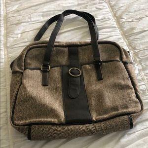 Brown tweed Gap bag